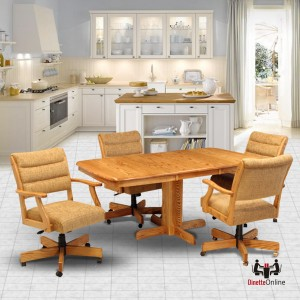 CR Joseph Adjustable Height Caster Dinette Set