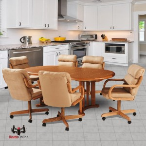 Douglas Casual Living Margo 7 PC Caster Dining Set