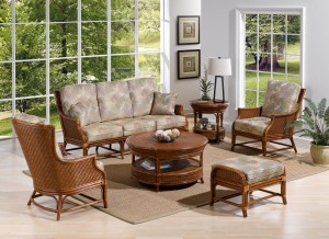 Classic Rattan Edgewater 6PC Living Room Set