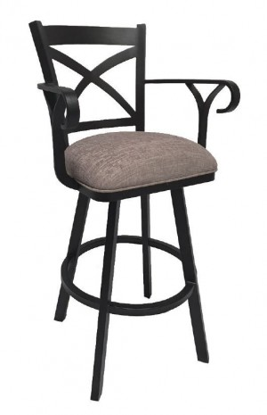 "Tempo Callee Edison 26"" Swivel Bar Stool with Arms"