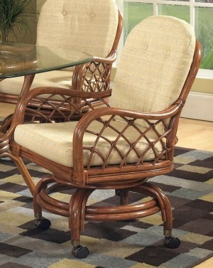 Classic Rattan Grand Isle Swivel Tilt Caster Arm Chair