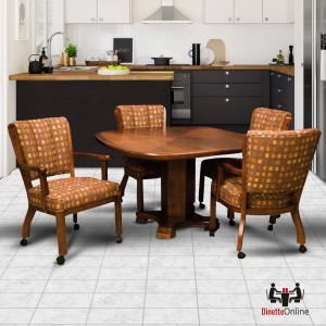 I.M. David C1109 with T5357 5 Piece Caster Dining Set