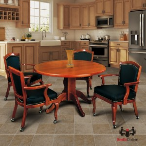 I.M. David 4127 Table & 2416 Caster Chairs 5 Piece Dining Set