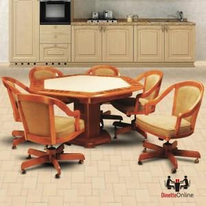 IM David Poker Game Set T3695 Table & C5409GC Chairs