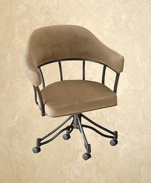 Tempo Like Lodge Swivel Tilt London Caster Arm Chair by Callee