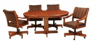 CR Joseph Swivel 5004GC Tilt Casual Dining Set with Casters