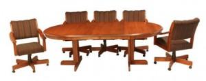 CR Joseph 5004GC Swivel Tilt Dining Set with Caster Chairs