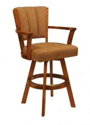 CR Joseph 3590 Swivel Counter Height Wood Bar Stool  26