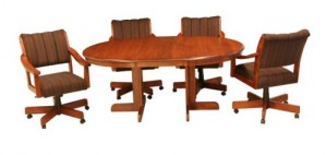CR Joseph Split Pedestal Base Extension Dinette Table