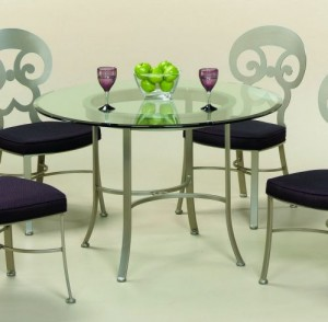Johnston Casuals Woodlands Dining Table, 1033B, Glass GL43