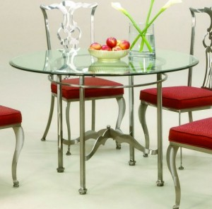 Johnston Casuals Princeton Round Dining Table, 2733B, Glass GL43