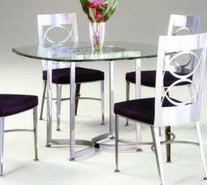 Johnston Casuals Arena Dining Table, 8633, Glass GL42