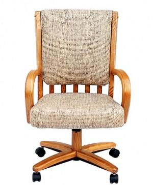 Chromcraft C177-936 swivel tilt caster arm chair