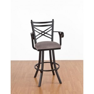 Tempo Like New Rochelle 26 Swivel Rochester Bar Stool with Arms by Calllee