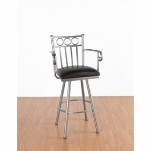 Tempo Like Wilmington 34 Swivel Washington Bar Stool with Arms by Callee