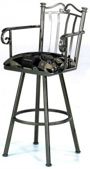 "Tempo Like Somerset 30"" Swivel Sunset Bar Stool with Arms by Callee"