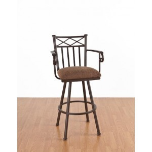 Tempo Like Arlington 26 Arcadia Swivel Bar Stool with Arms by Callee