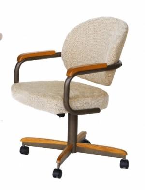 Douglas Casual Living Sara Swivel Tilt Caster Dining Chair