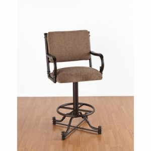 Tempo Like Bullseye 34 Burnet Swivel Wide Body Bar Stool with Arms by Callee