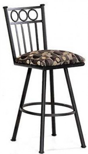 Tempo Like Wilmington 26 Armless Swivel Washington Bar Stool by Callee
