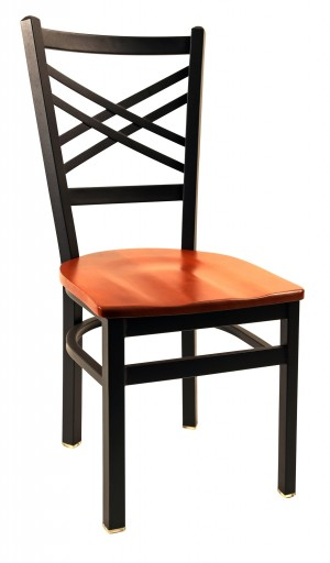 Commercial Cross Back Tall Back Metal Dining Chair