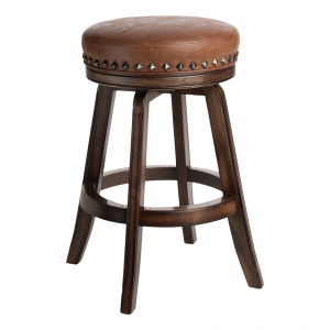 "Darafeev Milano Bartender Swivel 30"" Backless Bar Stool"
