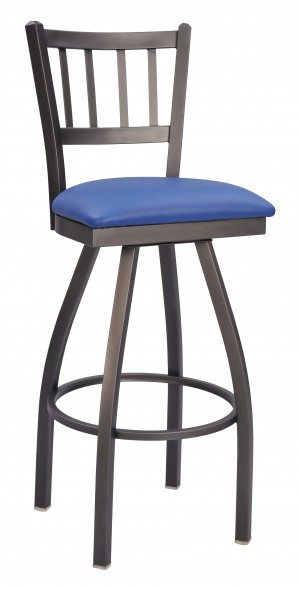 "Commercial Jailhouse Metal 30"" Swivel Bar Stool"
