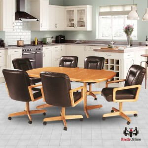 Douglas Casual Living Nancy 5 PC Caster Dining Set