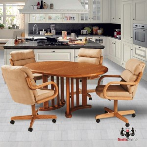 Douglas Casual Living Paula 5 Piece Caster Dining Set
