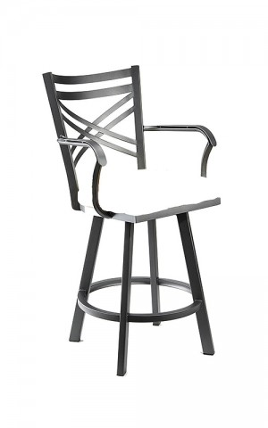 "Wesley Allen Raleigh 26"" Swivel Bar Stool with Arms"