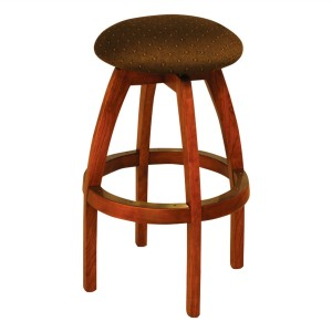 "IM David S4300 30"" Backless Wood Swivel Bar Stool"