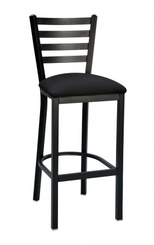 "Commercial Ladder Back Metal Stationary 30"" Bar Stool"