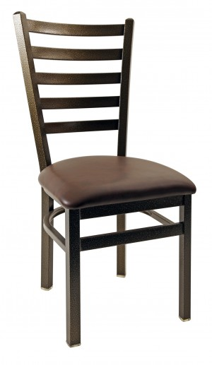 Commercial Ladder Tall Back Metal Dining Chair